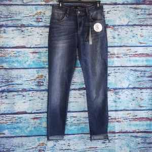 NWT {STS Blue} high rise ankle raw hem jeans